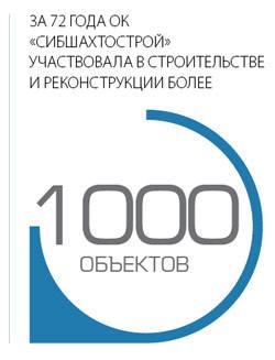 """За 72 года ОК """"Сибшахтстрой"""" участвовала в строительстве и реконструкции более 1000 объектов"""