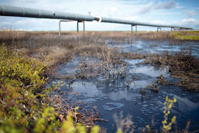 Разлив нефти на суше