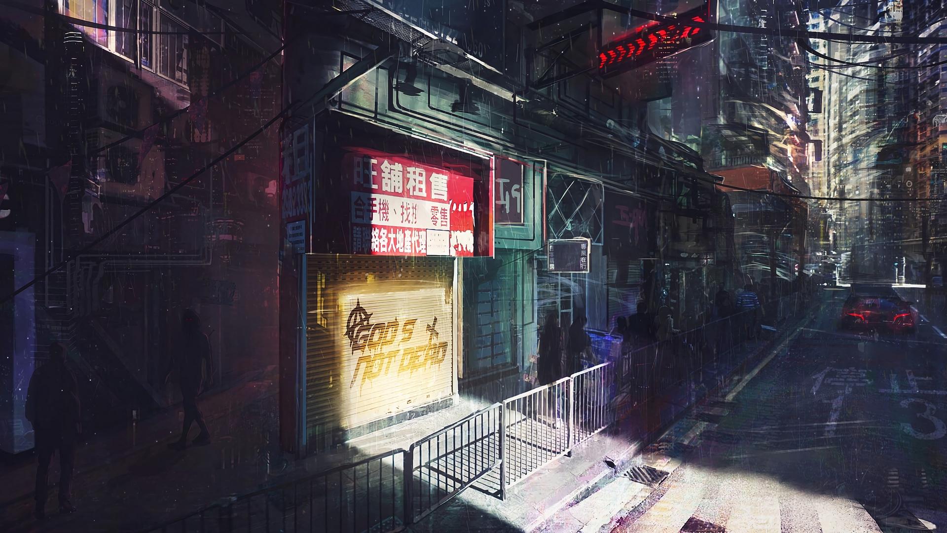 Художник рисует необычные арты на темы Cyberpunk, Fallout, Metro и других игр