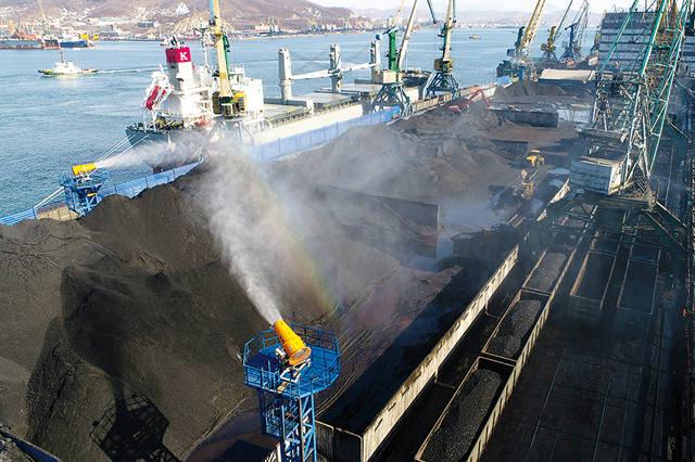 Пылеподавление угля