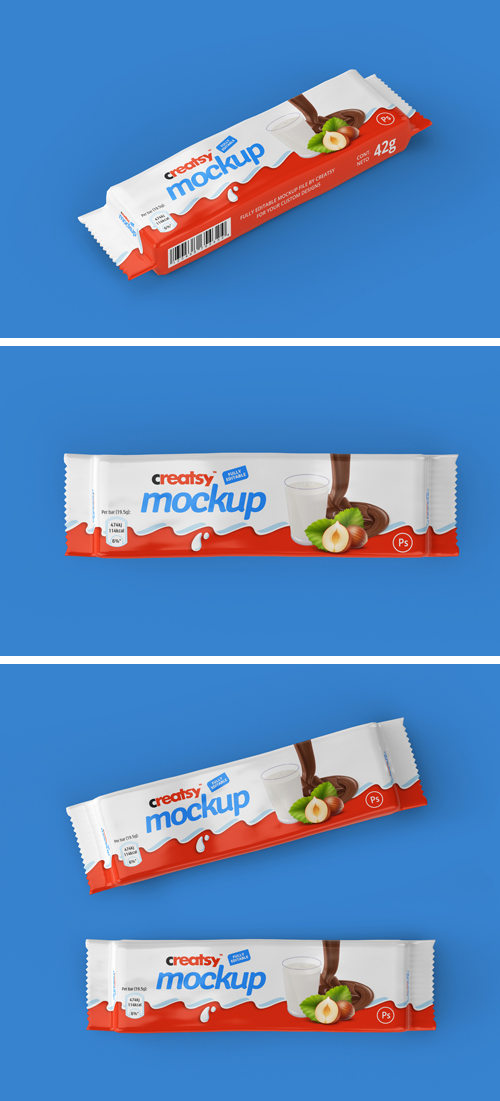 Chocolate Bar Package Mockup