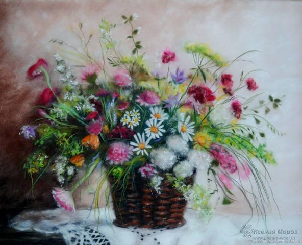 Шерстяная акварель Ксении Мороз: чудесные картины без красок и кистей