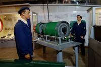 В музее бывшего подземного завода по ремонту подводных лодок. Одна из первых советских ядерных торпед. Фото Морошкина В.В.
