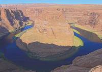 Знаменитая скала Подкова в излучине р. Колорадо. Фото Морошкина В.В.