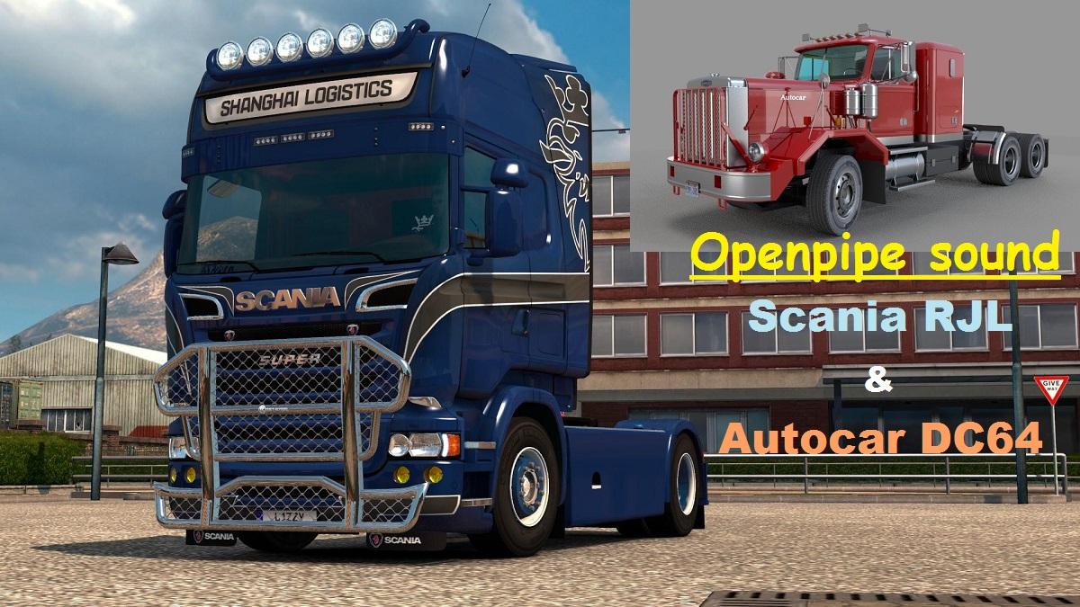 Openpipe sound Scania RJL & Autocar DC64