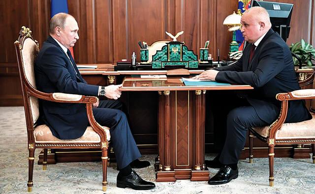 Цивилёв на совещании у В.В. Путина