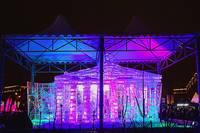 Ледяная модель Большого Театра в Парке Победы. Фото Морошкина В.В.