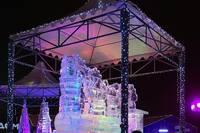 Ледяная фигура в Парке Победы. Фото Морошкина В.В.