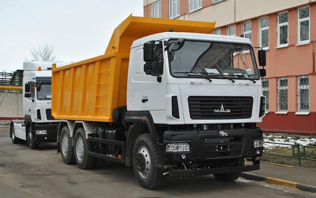 Самосвал МАЗ 6514С9. Самые дорогие грузовики. ТОП-10 дорожных самосвалов