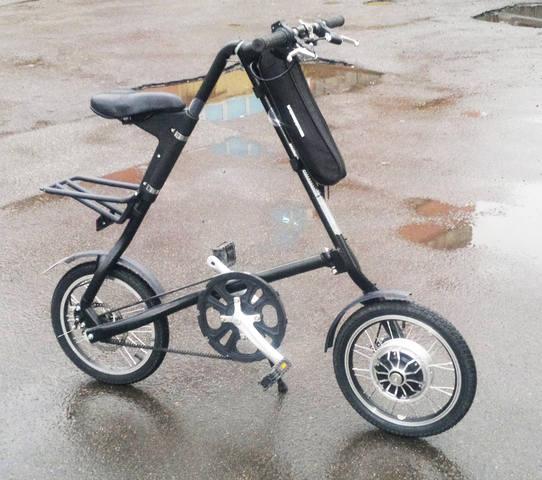Велосипед Strida с мотор-колесом от гироскутера - МК3