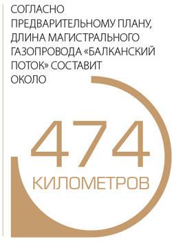 """Согласно предварительному плану, длина магистрального газопровода """"Балканский поток"""" составит около 474 километров"""
