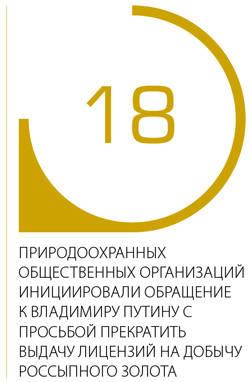 18 природоохранных общественных организаций инициировали обращение к Владимиру Путину с просьбой прекратить выдачу лицензий на добычу россыпного золота