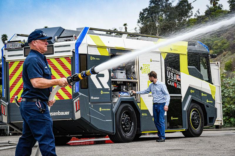 Электрический пожарный автомобиль CFT