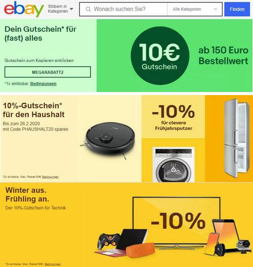 Промокод Ebay немецкий. Скидка 10%