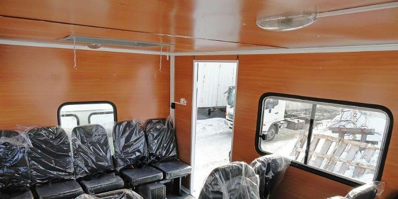 Внутренняя отделка вахтового автобуса
