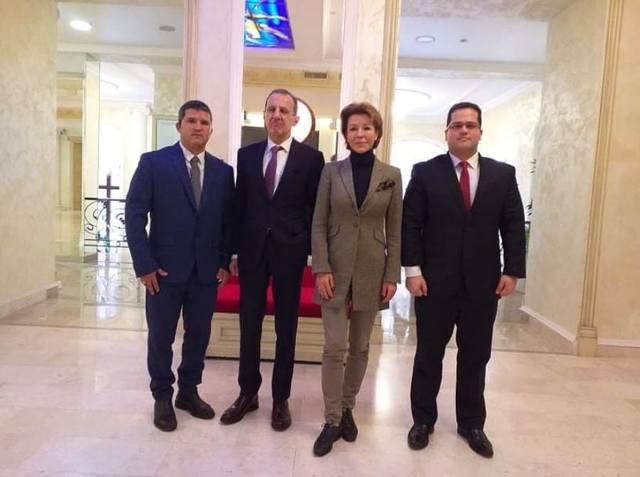 Кубинские дипломаты посещают Общественную палату Российской Федерации.