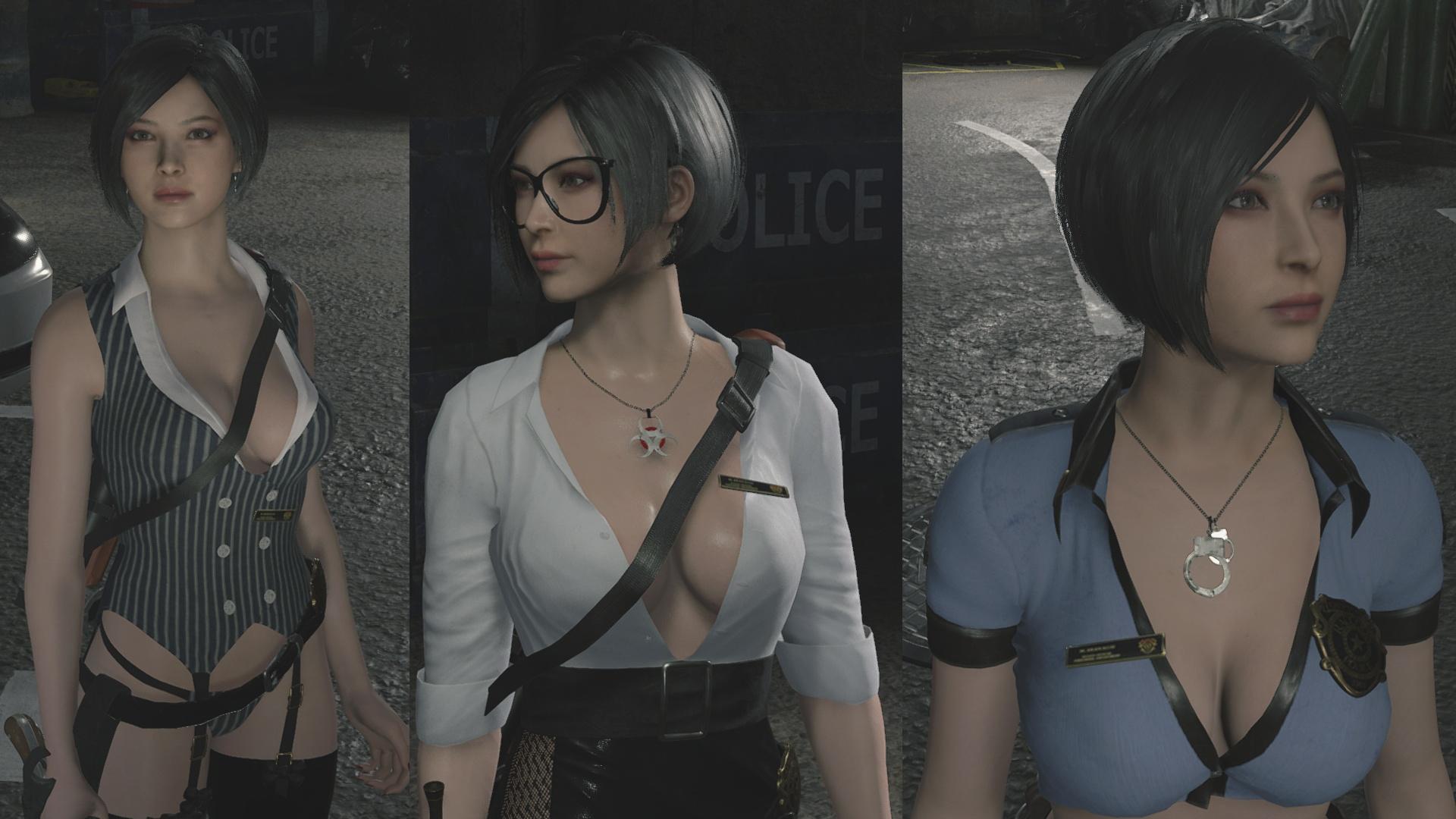 Сексуальная Ада Вонг в откровенной одежде сразилась с Таносом в моде для RE2