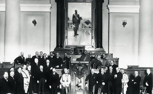 Участники конференции стран Антанты в Петрограде, 1917 г.