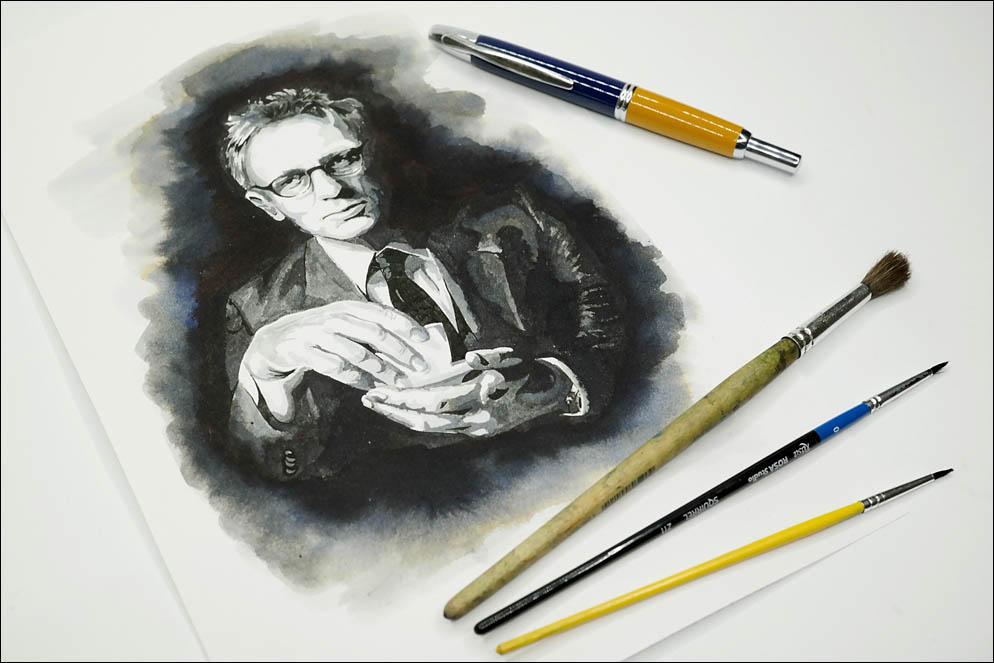 Daniel Craig drinking tea. Lenskiy.org