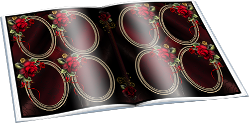 Фотоальбом с красными розами