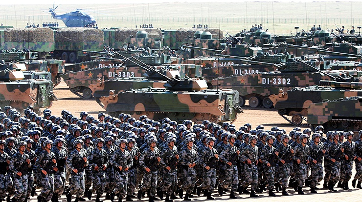 Китай не останавливает программы перевооружения, проводит военные учения и плановый призыв в ряды вооружённых сил.