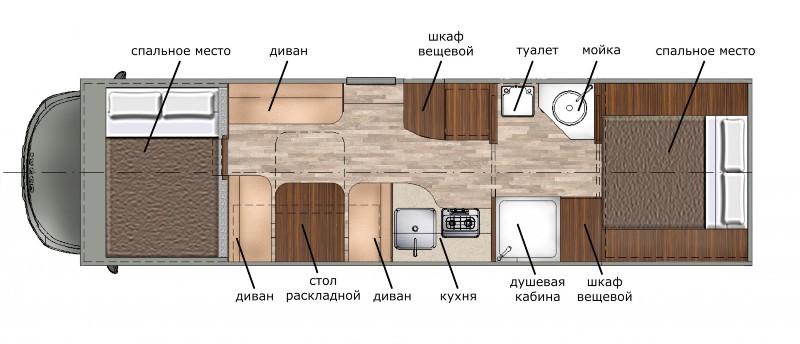 Схема планировки жилого пространства