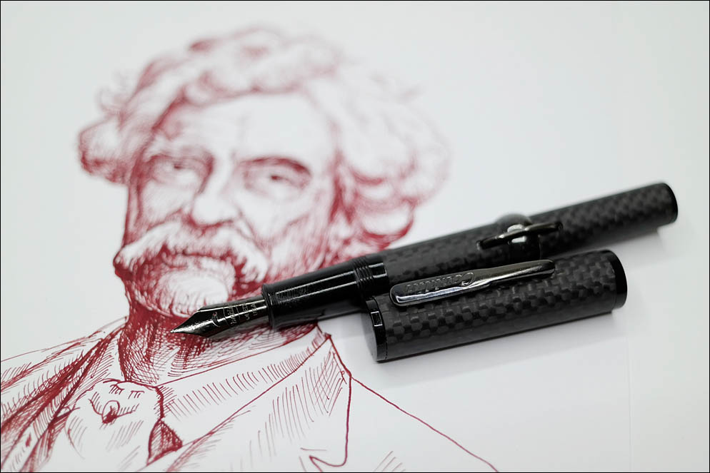 Conklin 'Mark Twain' Crescent Stelth Deluxe Carbon fiber. Lenskiy.org