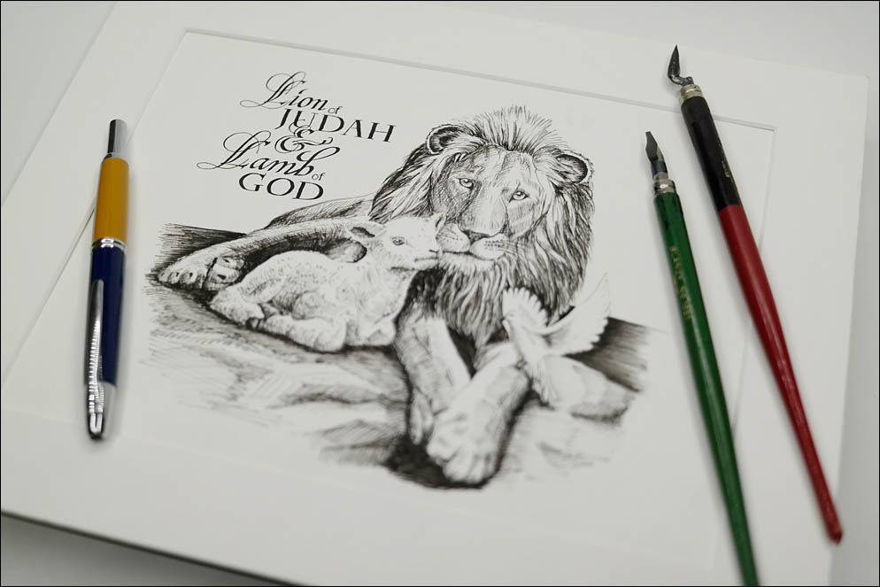 The Lion as Judah and The Lamb as GOD text. Lenskiy.org