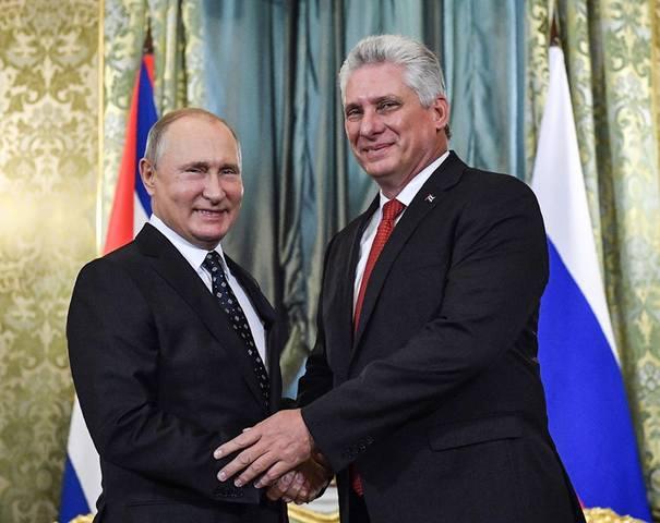 Диас-Канель поздравляет Путина с 75-летием Победы над фашизмом.
