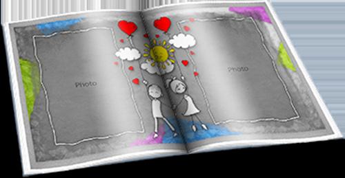 Романтическая фотокнига - Рисунки о любви