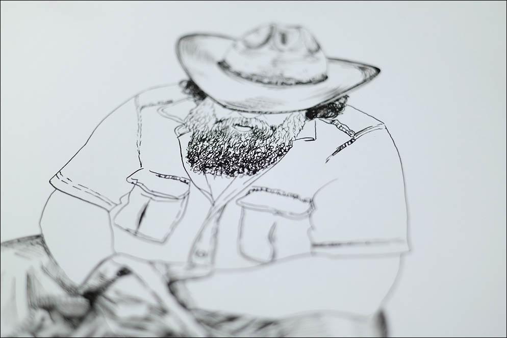 Cowboy sketch (Fuzzy_Bear). Lenskiy.org