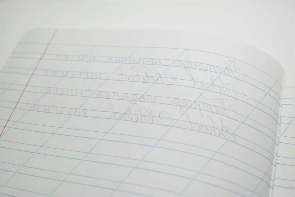 School notebooks ink-paper test. Lenskiy.org
