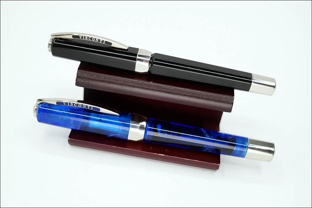 Visconti Opera Black Guilloche vs Visconti Opera Master Demo Blue. Lenskiy.org