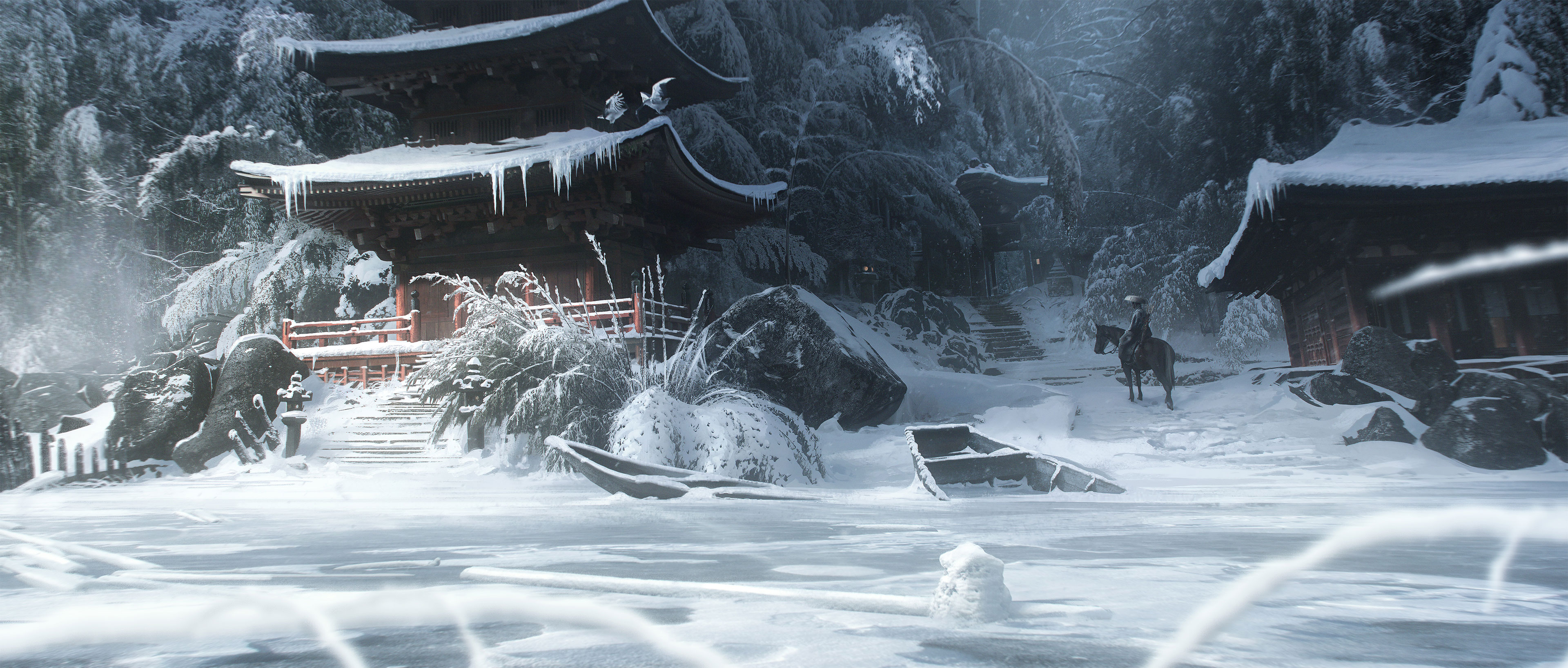 Четыре концепт-арта Ghost of Tsushima