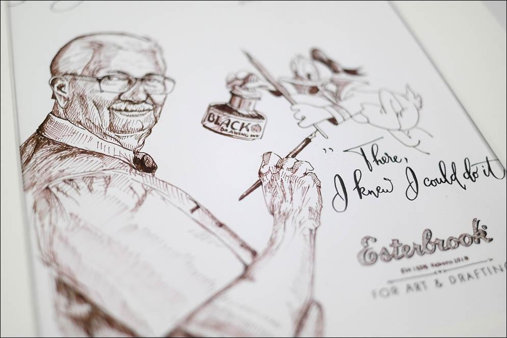 Disney artist Carl Barks and Donald Duck. Lenskiy.org