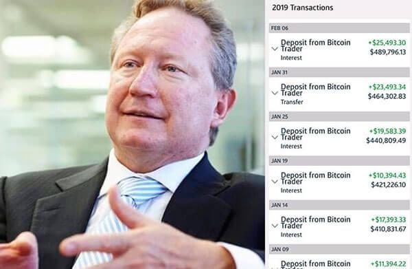 andrew forrest bitcoin trader bitcoin prognozė 2021 m liepos mėn