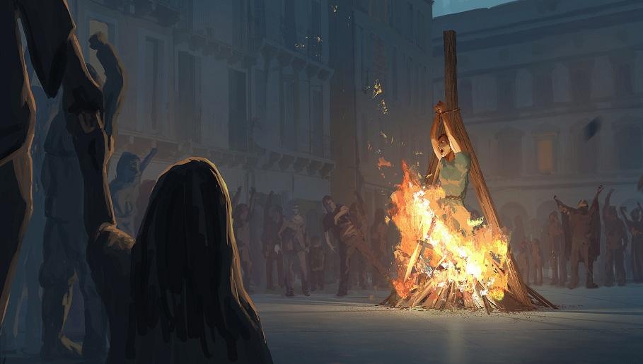 сожжение колдуна отступника