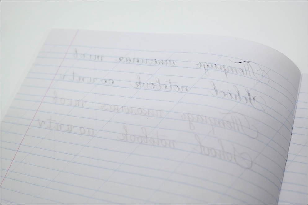 School notebooks ink-paper test 2020. Lenskiy.org