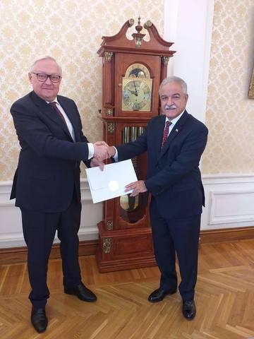 Представлены копии нового стиля Посла Республики Куба в Российской Федерации.