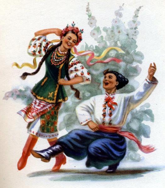 Старая украинская открытка. Вся эта мода на национальные костюмы сегодня - на самом деле красиво, как вам кажется?