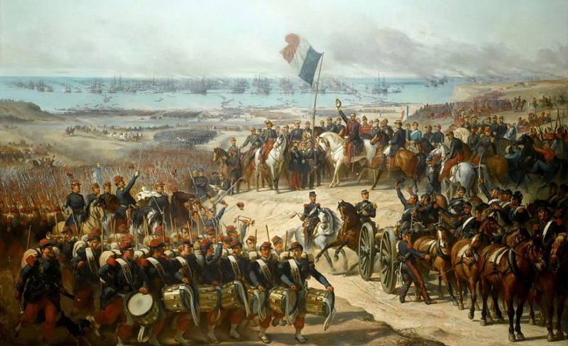 Высадка французской армии в Евпатории, 14 сентября 1854 года. Художник Феликс-Жозеф Байя
