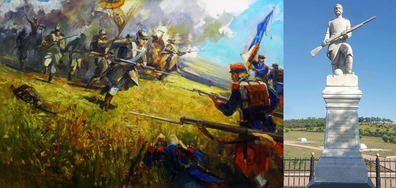Яростная штыковая атака Владимирского полка и памятник его героям на Альминском поле