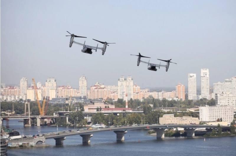 Американские конвертопланы в небе над столицей Украины