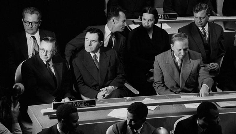 Советская делегация во главе с А.А. Громыко на Сан-Францисской конференции. Апрель 1945 г.