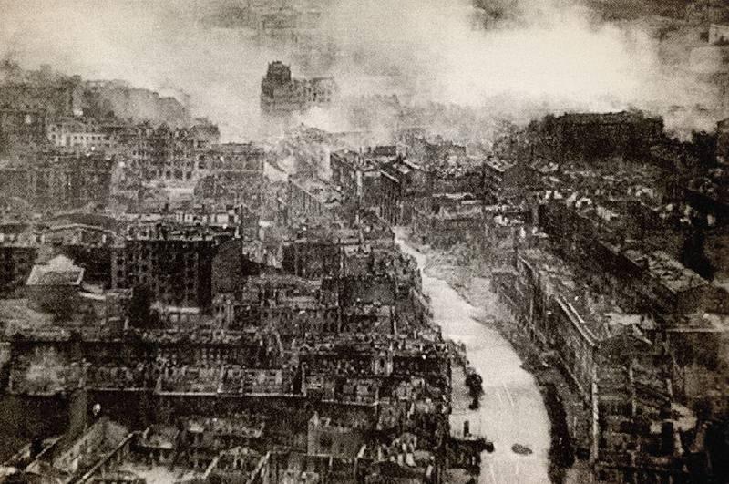 Сгоревший Крещатик, сентябрь 1941 года