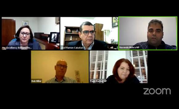 CSC присоединился посол Кубы в США на онлайн-встрече -