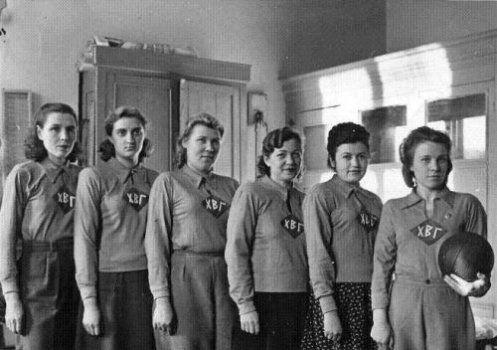 Женская сборная по волейболу Харьковского военного госпиталя, 1948 год