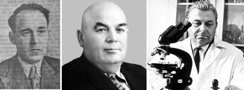 Наркомы и министры здравоохранения УССР И.И. Осипенко, И.Ф. Кононенко, Л.И. Медведь