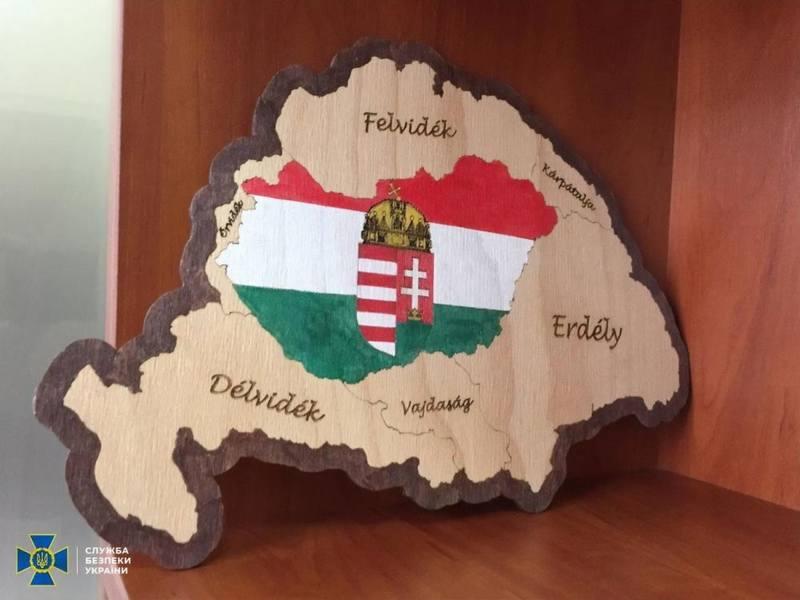 Сувенирная карта Великой Венгрии как доказательство закарпатского сепаратизма в глазах СБУ