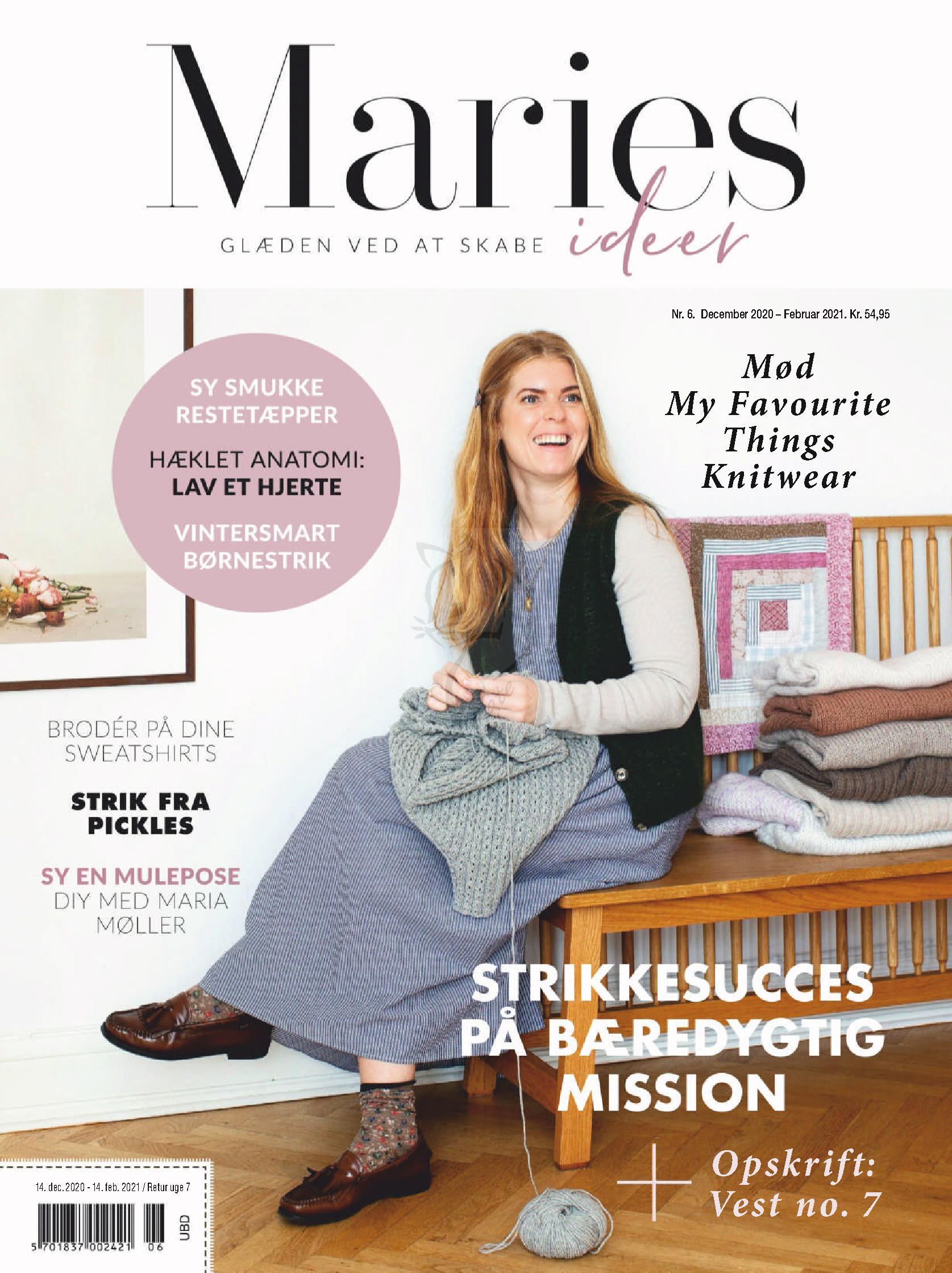Датский журнал по вязанию Maries Ideer №6 2020
